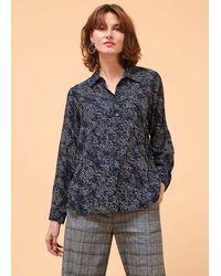 La Fee Maraboutee Chemise manches longues et poignets boutonnés - Bleu