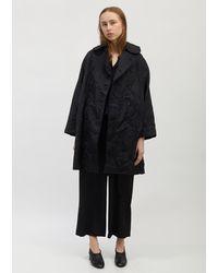 Comme des Garçons Jacquard Moire Pattern Coat - Black