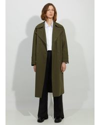 Harris Wharf London Oversized Light Trench Coat - Green