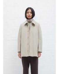 AURALEE Shetland Wool Half Coat - Natural