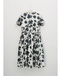 Sara Lanzi Gathered Waist Dress - Black