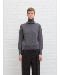 Margaret Howell Cashmere Wide Roll Neck - Grey