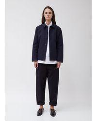 Sara Lanzi Heavy Cotton Twill Boxy Jacket - Blue