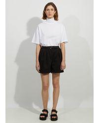 Acne Studios Rowanne Cotton Twill Shorts - Black