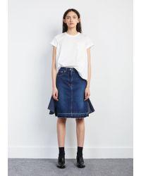 Sacai - Denim Ruffle Skirt - Lyst