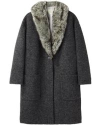 Girl by Band of Outsiders - Fur Collar Coat - Lyst