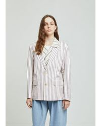 Gosha Rubchinskiy - Double Layer Striped Jacket - Lyst