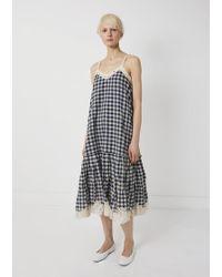 Péro - Cotton Gingham Lace Dress - Lyst