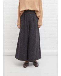Dusan Wool High Waist Trousers - Grey