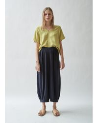 Black Crane - Bulb Linen Melange Trousers - Lyst