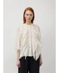 Sofie D'Hoore Bologna Ruffled Front Shirt - Multicolour