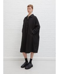 Casey Casey Wool Atomless Coat - Black