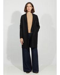 Harris Wharf London Wool Cocoon Coat - Black