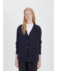 Sara Lanzi Wool Cashmere Oversized Cardigan - Blue