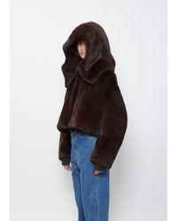 Amomento Eco Fur Balaclava - Brown