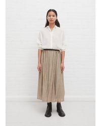 Pas De Calais Gathered Skirt - Natural