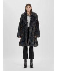 MM6 by Maison Martin Margiela Melange Faux Fur Coat - Black