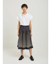 Margaret Howell Half Moon Printed Cotton Skirt - Multicolour