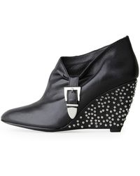Belle By Sigerson Morrison - Studded Wedge - Lyst