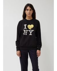6397 I Love Ny Oversized Sweatshirt - Black
