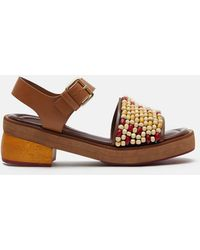 Marni - Beaded Sandals - Lyst