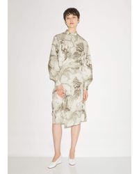 Lemaire Marbled Twisted Dress - Multicolour