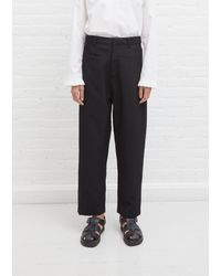 Sara Lanzi Straight Trousers - Black