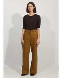 MHL by Margaret Howell Wide Leg Naval Trouser - Natural