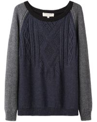 Vanessa Bruno Athé - Two-tone Cable Knit - Lyst