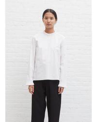 Sara Lanzi Ruffle Shirt - White