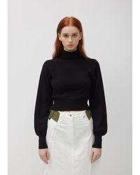 Sacai Denim & Taffeta Skirt - White