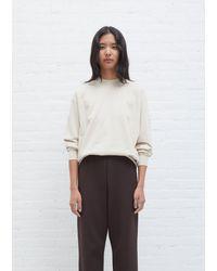 AURALEE High Gauge Sweat Shirt - White
