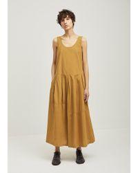 Black Crane | Patched Cotton Tank Dress | Lyst