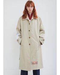 Martine Rose - Belted Appliqué Trench Coat - Lyst