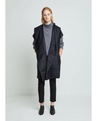Dusan - Wool Flannel Hooded Duvet Vest - Lyst