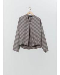 Sofie D'Hoore Baj Henley Tartan Shirt - Grey