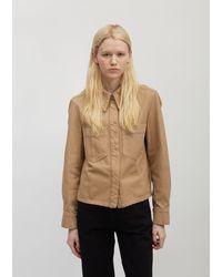 Lemaire Boxy Overshirt - Natural