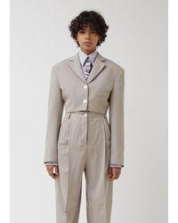 Acne Studios Judethe Poly Hb Suit Jacket - Grey