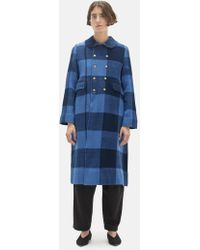 Péro - Handwoven Chequered Wool Coat - Lyst
