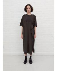 Y's Yohji Yamamoto N-big T Side Belt Dress - Black