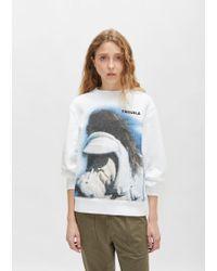 Tim Coppens - Printed Ma-1 Sweatshirt - Lyst