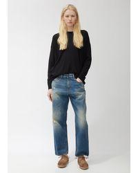 6397 Worn Blue Skater Jeans