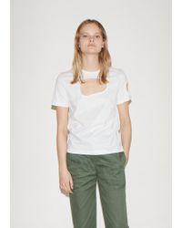 Vejas Organic Cutout T-shirt - White