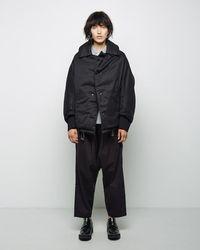 Y's Yohji Yamamoto - Down Filled Cocoon Coat - Lyst