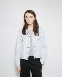 Acne Studios Lab Bleach Denim Jacket - White