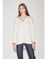 Pringle of Scotland - Cashmere V-neck With Intarsia Tipping - Lyst