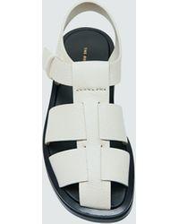 The Row Fisherman Sandal - White