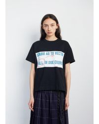 Sacai - All In Printed Tee - Lyst