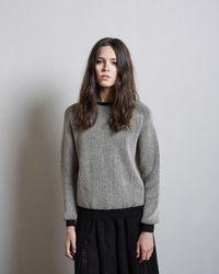 Sara Lanzi Round Neck Pullover - Gray