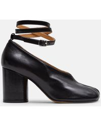 Maison Margiela Tabi Heels With Ankle Straps - Black